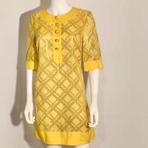 Marc by Marc Jacobs Dress in Yellow and Gold